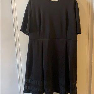 AA Studio 22W Black Dress w/ Mesh Detail